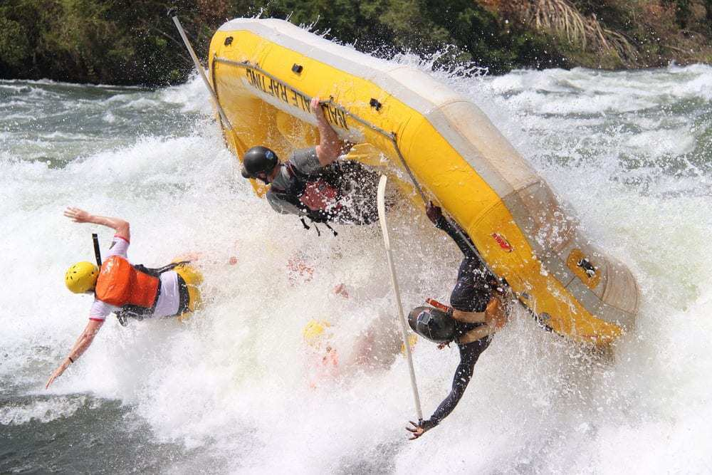 rafting at the source of the Nile