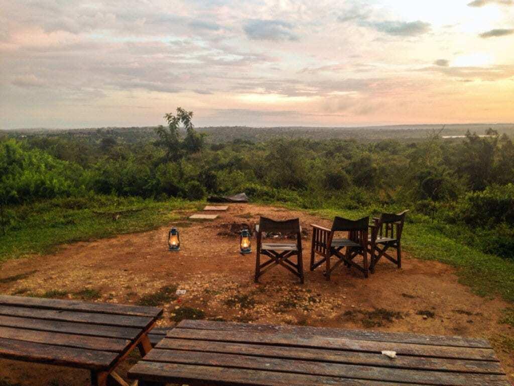 Camp ground - safari. Uganda